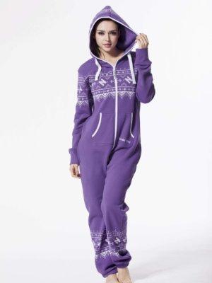 Комбинезон Winter Print фиолетовый