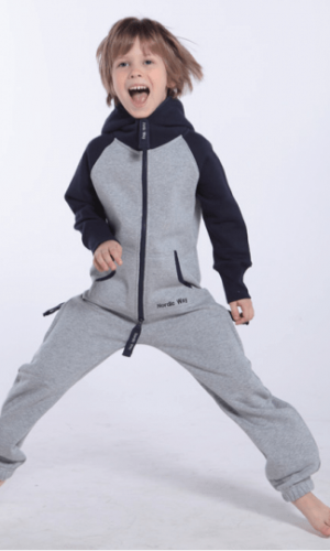 Детский комбинезон Smith серый+темно-синий K1702 2