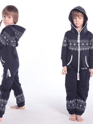 Детский комбинезон Winter Print ТЕМНО-СИНИЙ K0101 1