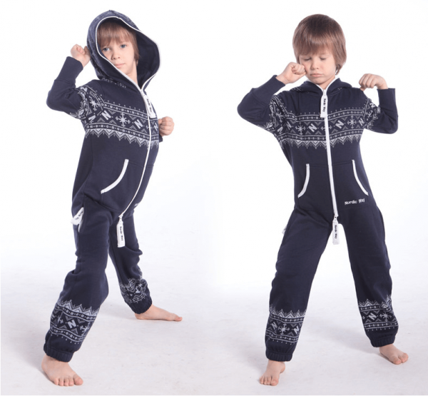 Детский комбинезон Winter Print ТЕМНО-СИНИЙ K0101 3