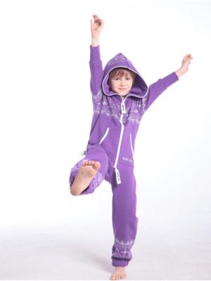 Детский комбинезон Winter Print фиолетовый K0104 1