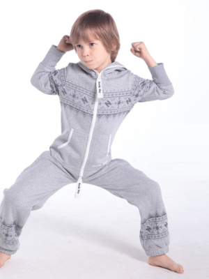 Детский комбинезон Winter Print серый K0103