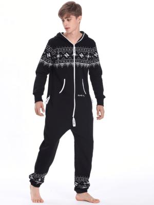 Комбинезон мужской Winter Printed черный M0102 обр