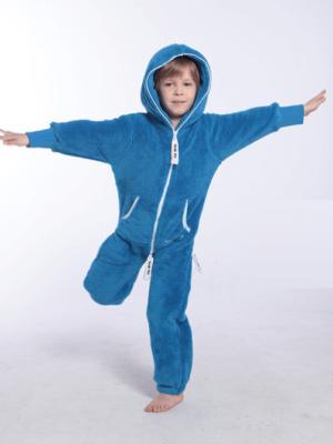 Плюшевый комбинезон детский голубой K126 1