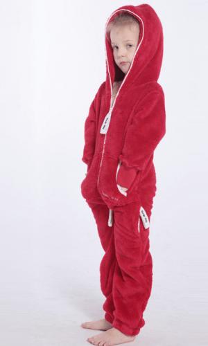 Плюшевый комбинезон детский красный K125