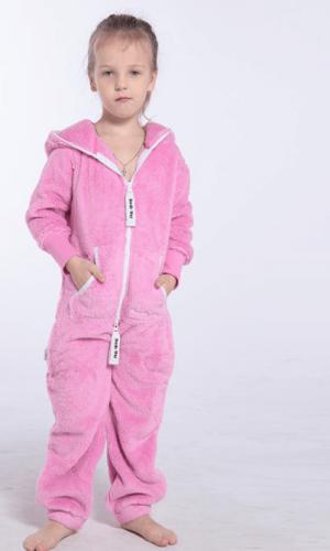 Плюшевый комбинезон детский розовый K127 1