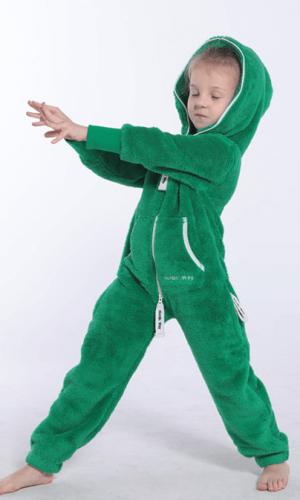 Плюшевый комбинезон детский зеленый K128 1