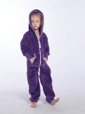 Плюшевый комбинезон фиолетовый k129 2