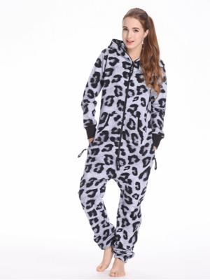 Женский комбинезон серый леопард W500