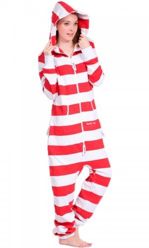 Комбинезон Stripe red and white