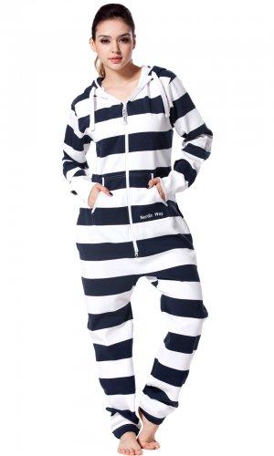 Комбинезон Stripe white and navy