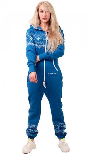 Комбинезон Winter Print blue