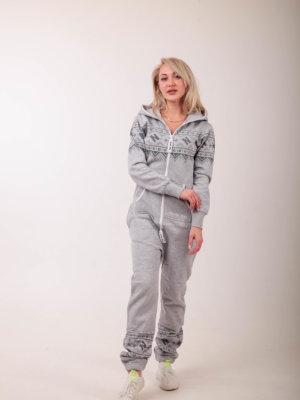 Комбинезон Nordic Way Winter Print gray серый